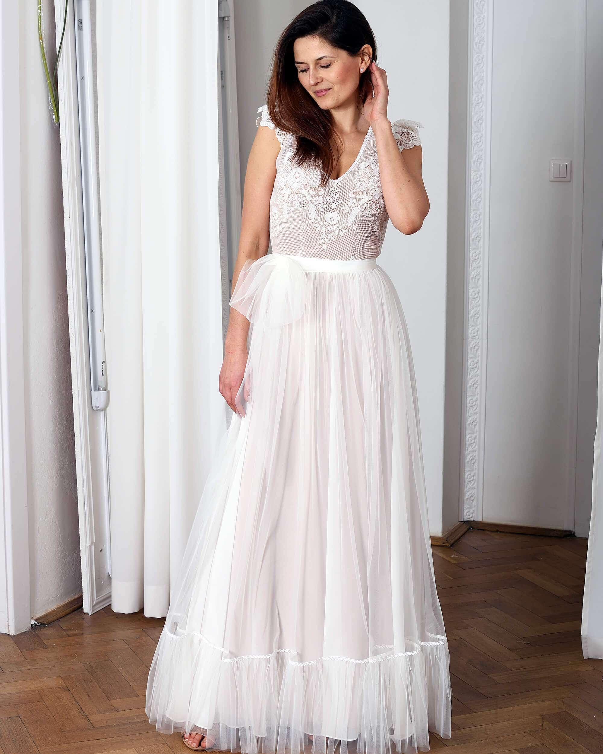 Koronkowa suknia ślubna model 16 kolekcja Porto