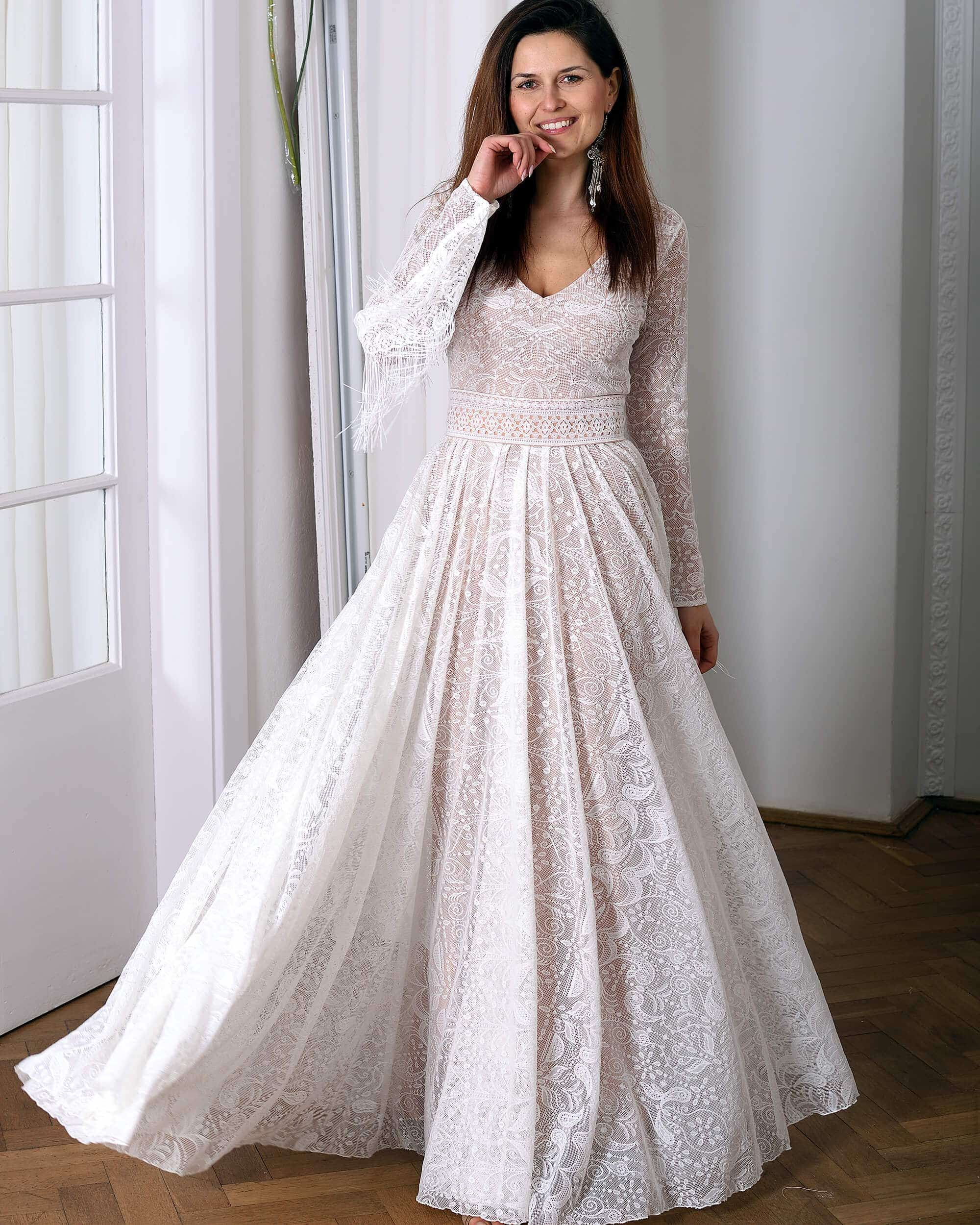 Koronkowa suknia ślubna model 19 kolekcja Porto