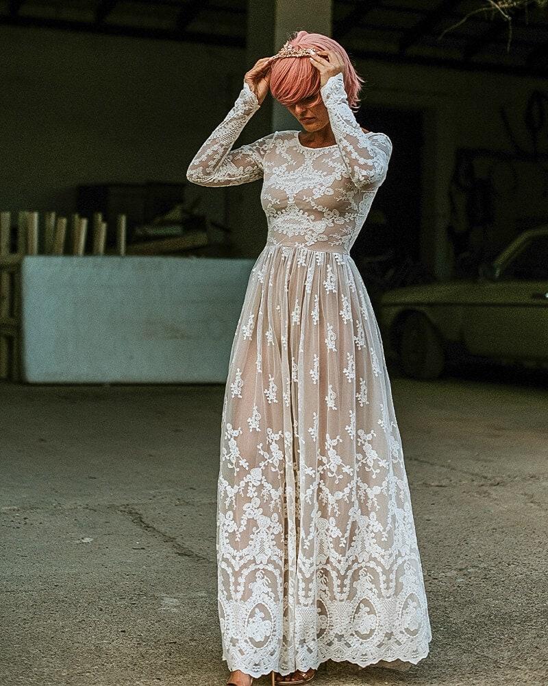 Najładniejsza rustykalna suknia ślubna Barcelona 9 header Barcelona wedding dresses