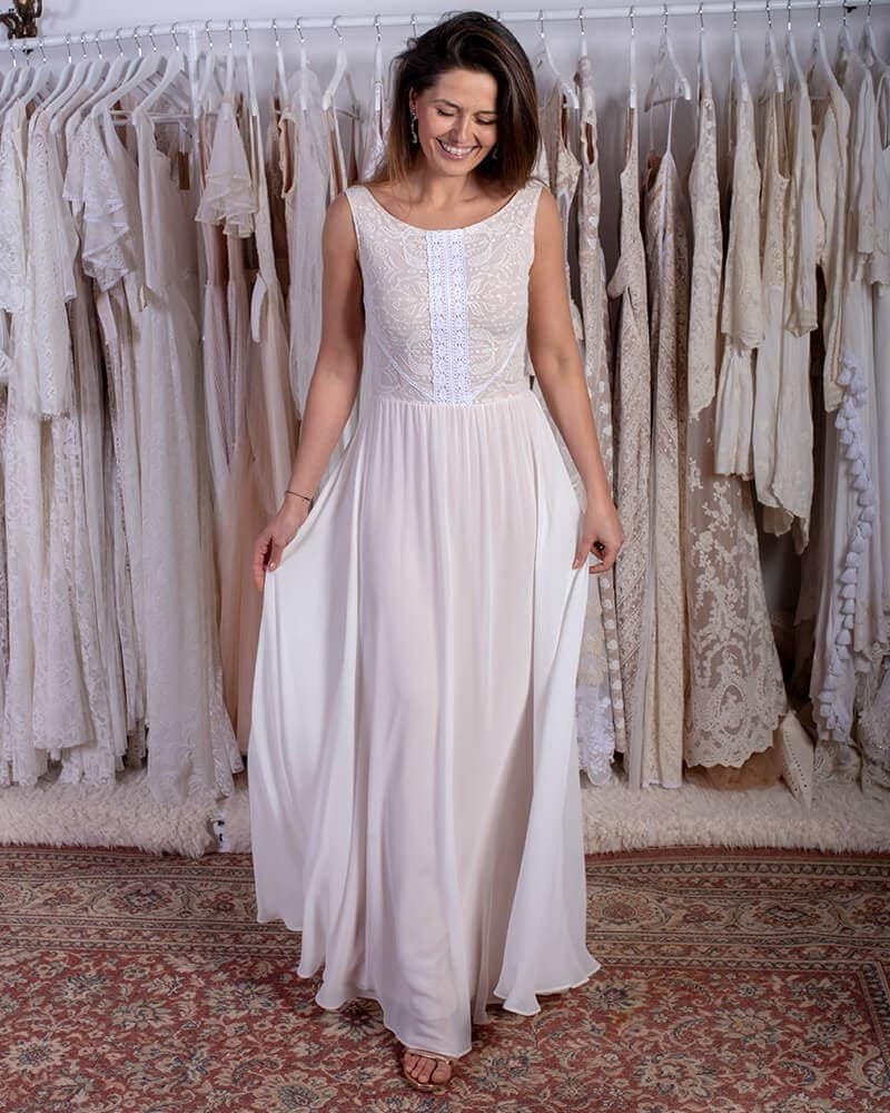 suknia ślubna z muślinu porto 41 header Porto wedding dresses collection