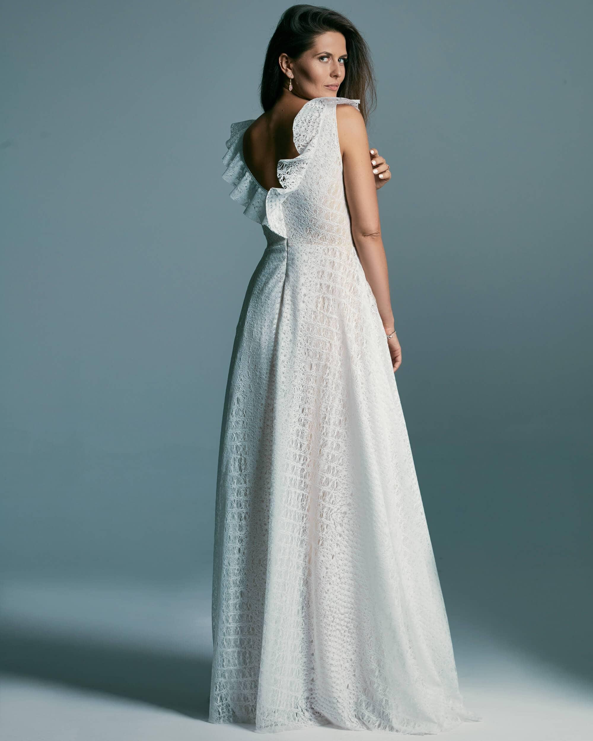 Rustykalna, romantyczna, zwiewna suknia ślubna - Santorini 4