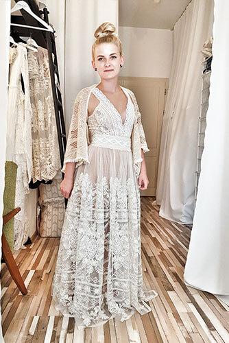 złota koronka suknia ślubna