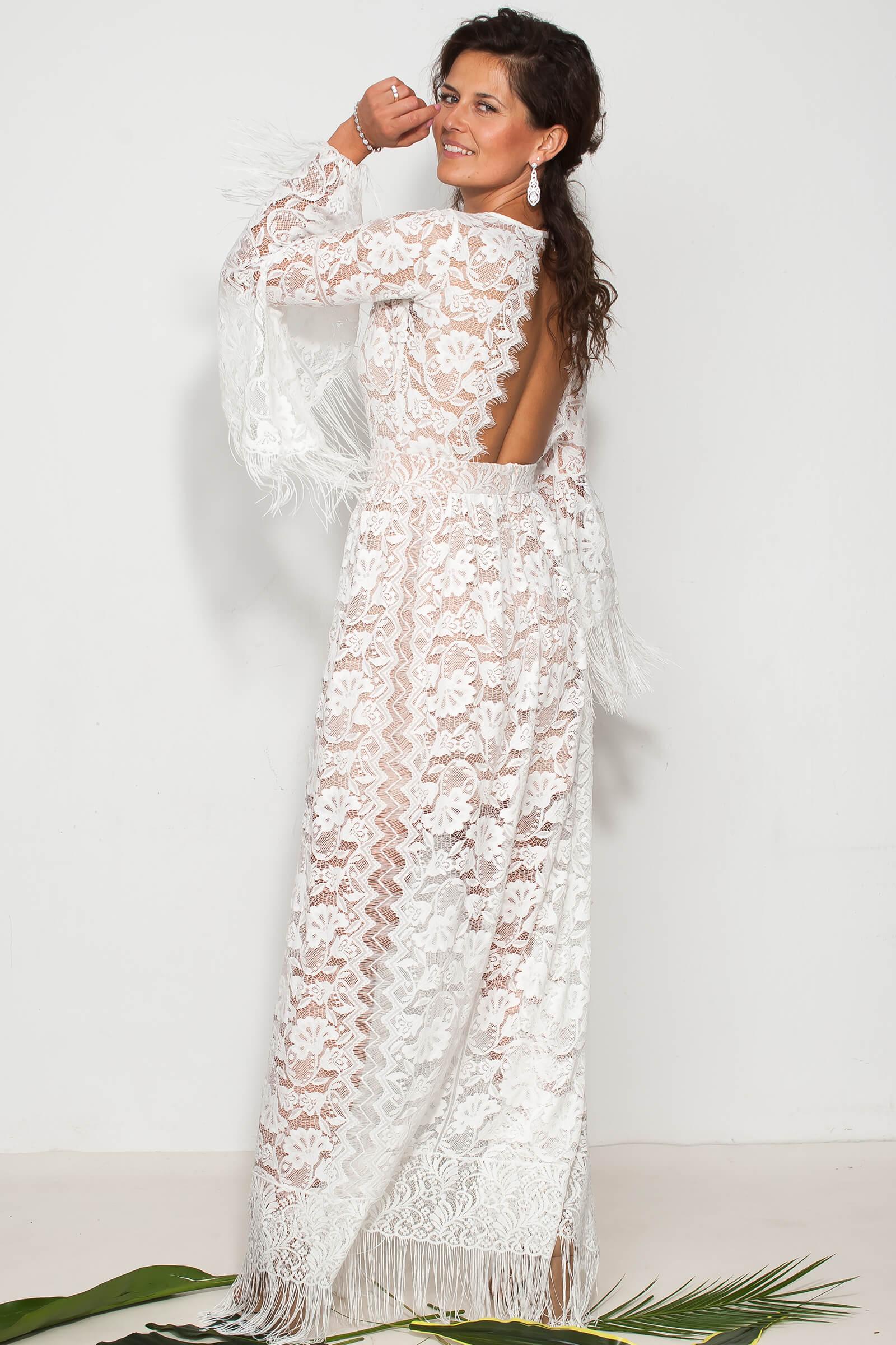 Suknia slubna z fredzlami porto 5