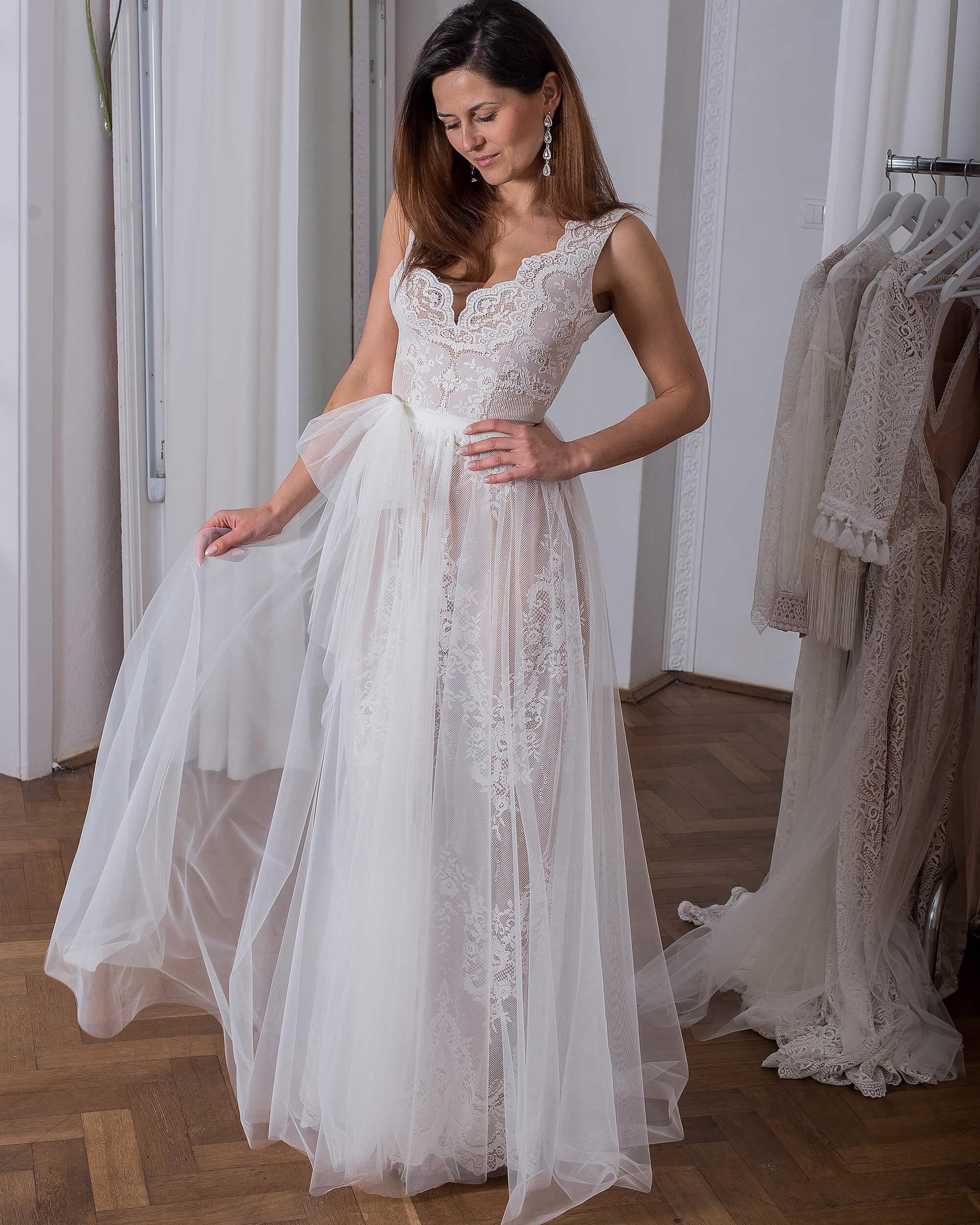 Koronkowa suknia ślubna model 11 kolekcja Porto