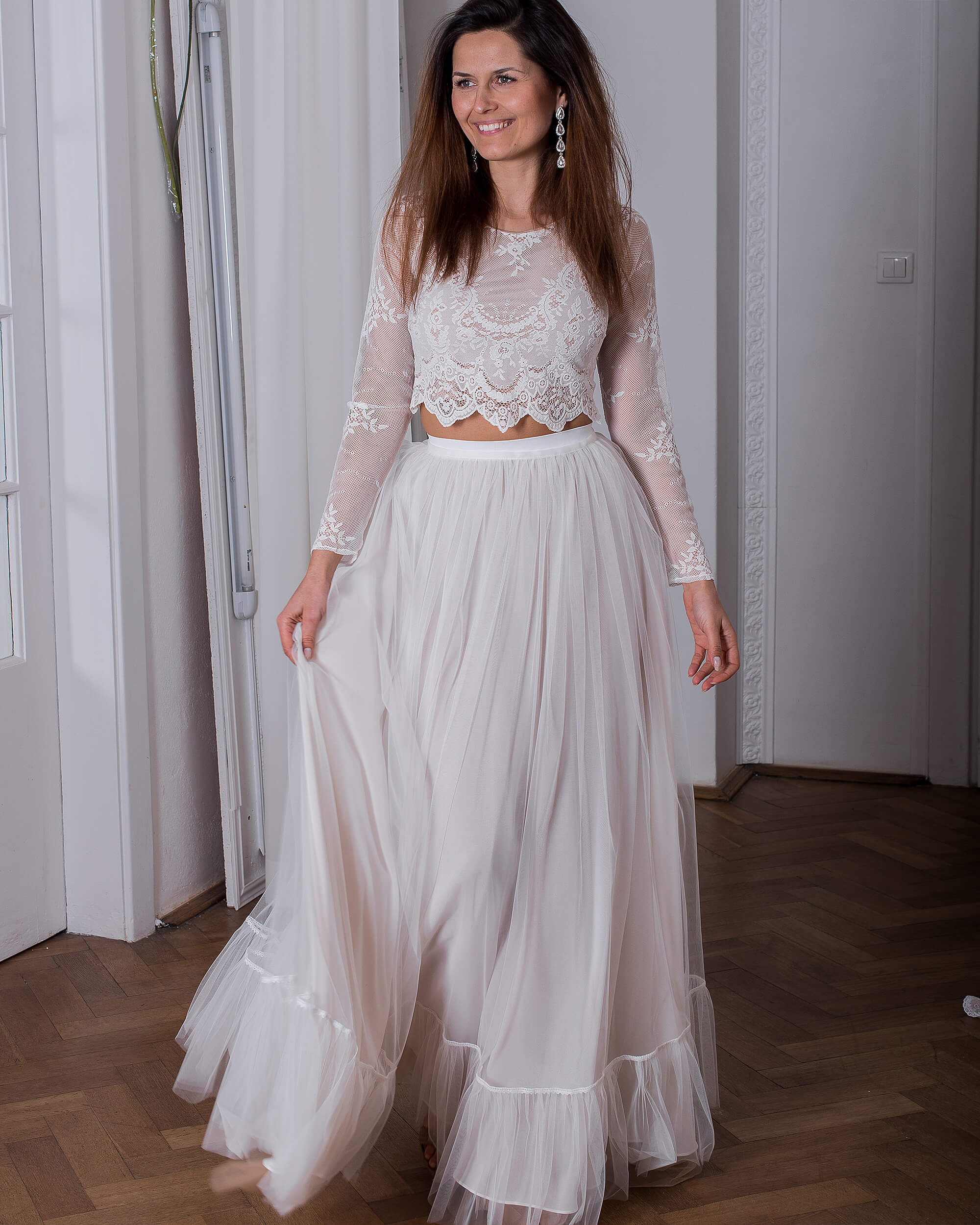 Koronkowa suknia ślubna model 24 kolekcja Porto