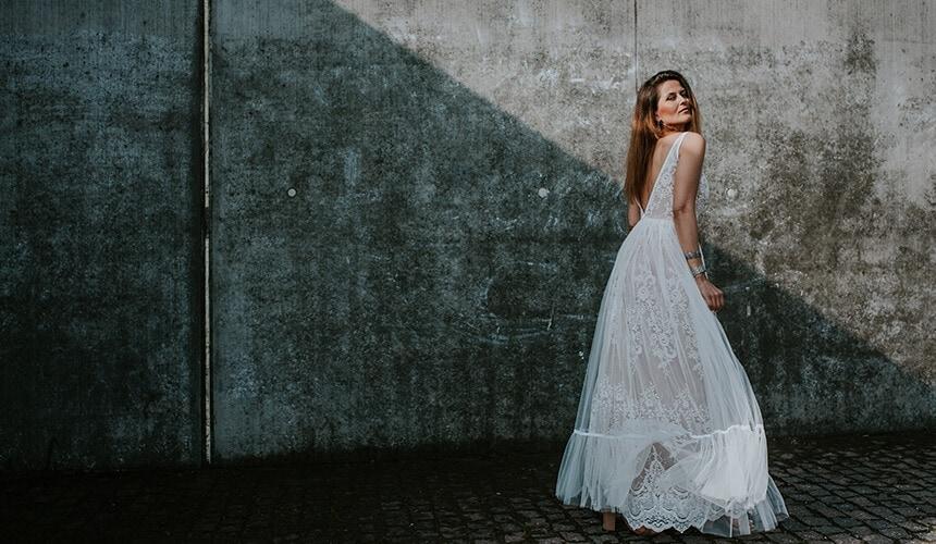 suknia ślubna koronkowa About Marta Trojanowska