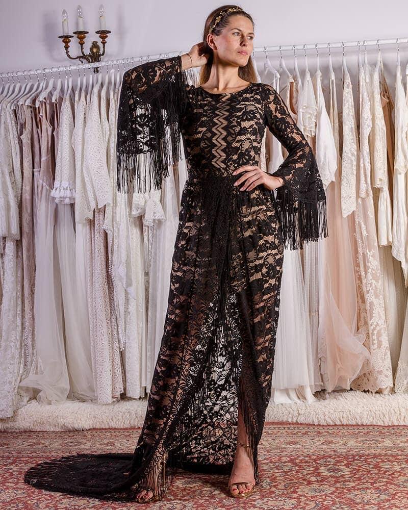 Zmysłowa czarna suknia na ślub cywilny header Porto wedding dresses collection