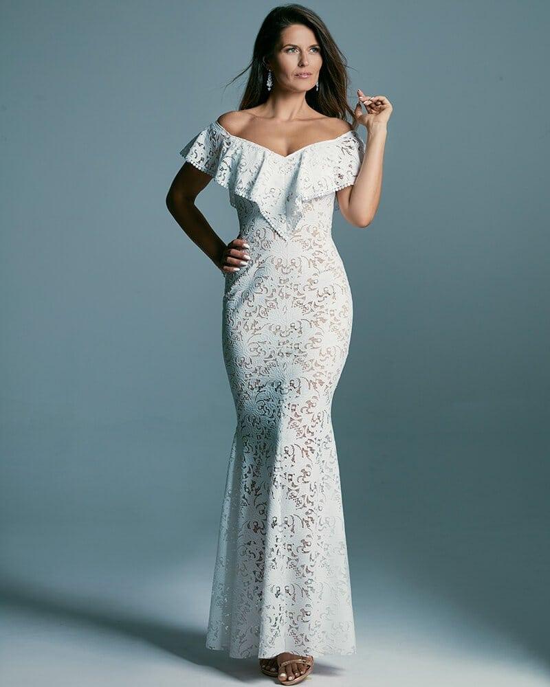 Kobieca suknia ślubna w stylu hiszpańskim Santorini 6 header Santorini wedding dresses collection