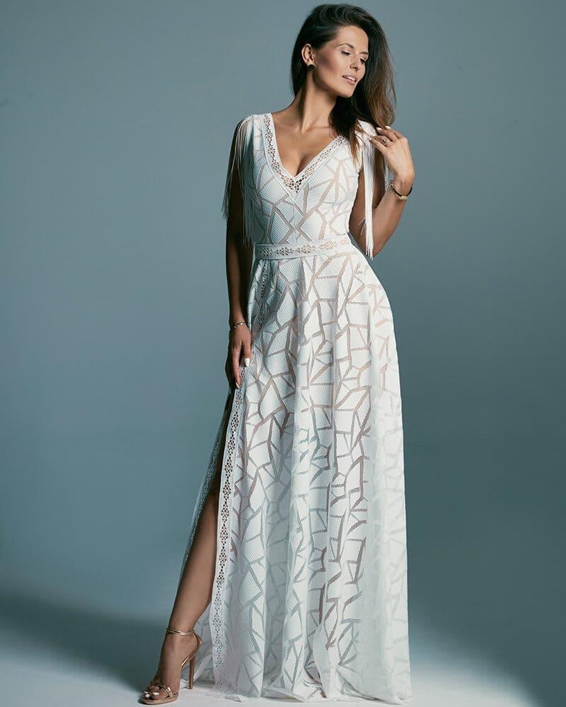 Niezwykle egzotyczna suknia ślubna z koronką Santorini 3 header Santorini wedding dresses collection