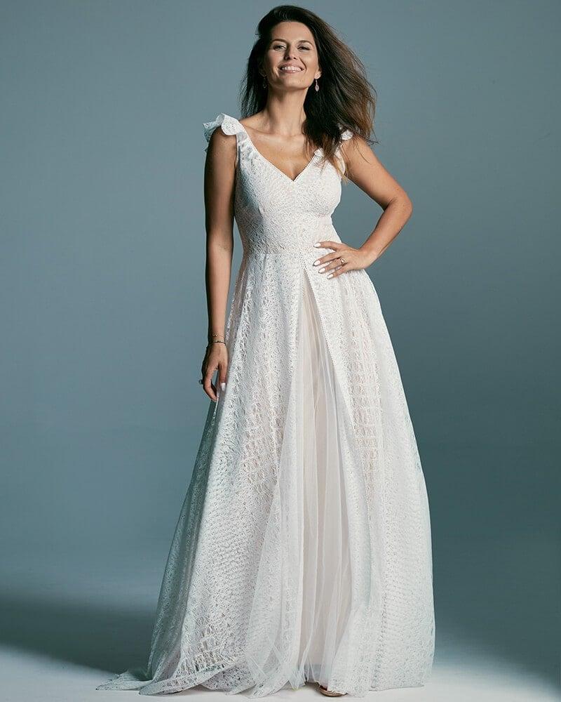 Rustykalna romantyczna zwiewna suknia ślubna Santorini 4 header Santorini wedding dresses collection