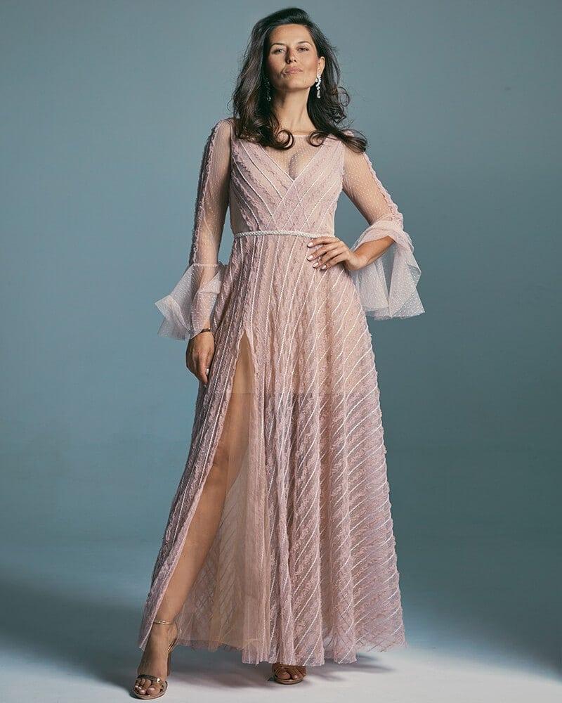 Suknia ślubna wpadająca w delikatny kolor wrzosu Venezia 2 header Venezia wedding dresses collection