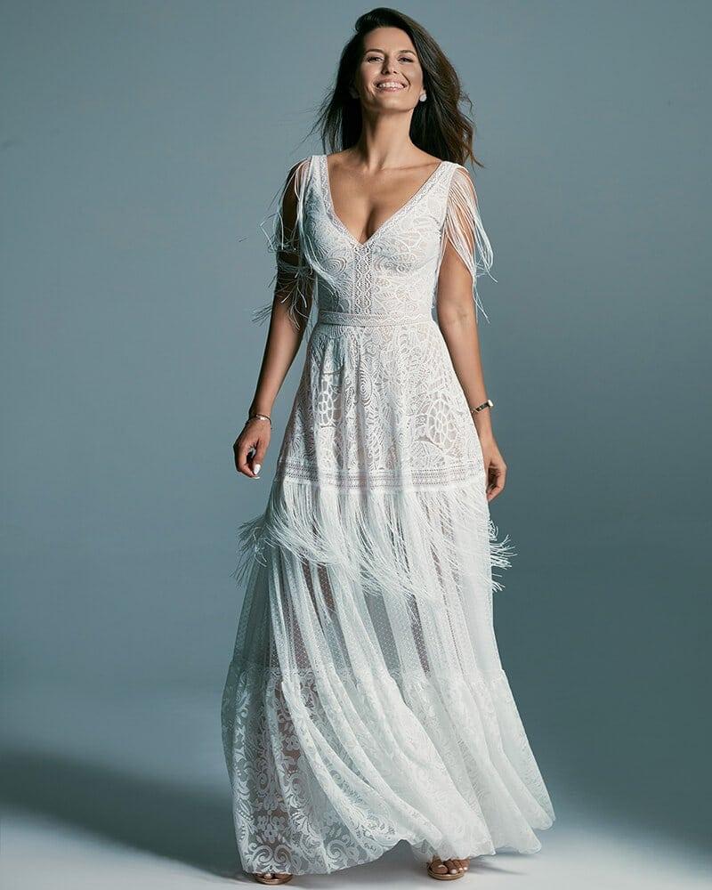 Suknia ślubna z kilku rodzajów koronek - Santorini 5