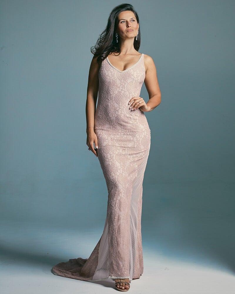 suknia ślubna z dzianinowej koronki Santorini 7