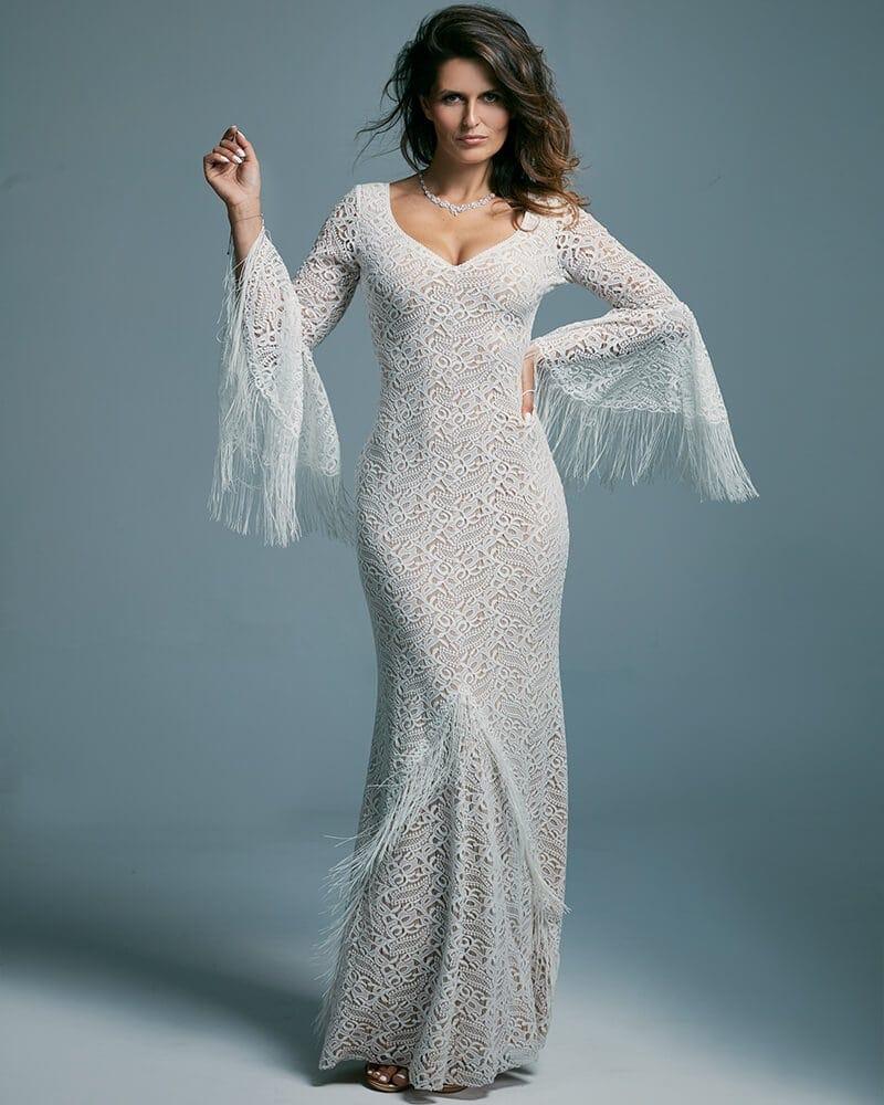Zmysłowa suknia ślubna modelująca sylwetkę Porto 46 header The Boho Dresses perfect wedding dresses