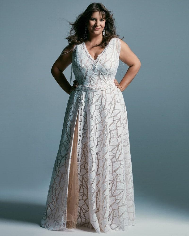 suknia ślubna plus size w afrykański wzór Santorini 3 2 Plus size wedding dresses