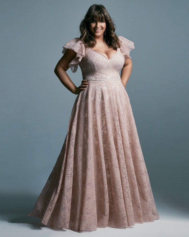 suknia ślubna plus size w kolorze różowym Venezia 4 3 The Boho Dresses perfect wedding dresses