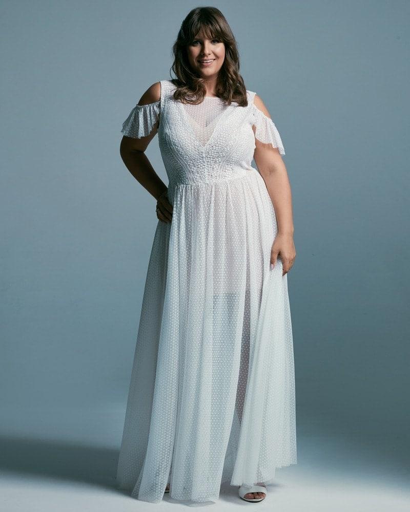 suknia ślubna plus size w stylu greckim Santorini 2 3 Plus size wedding dresses