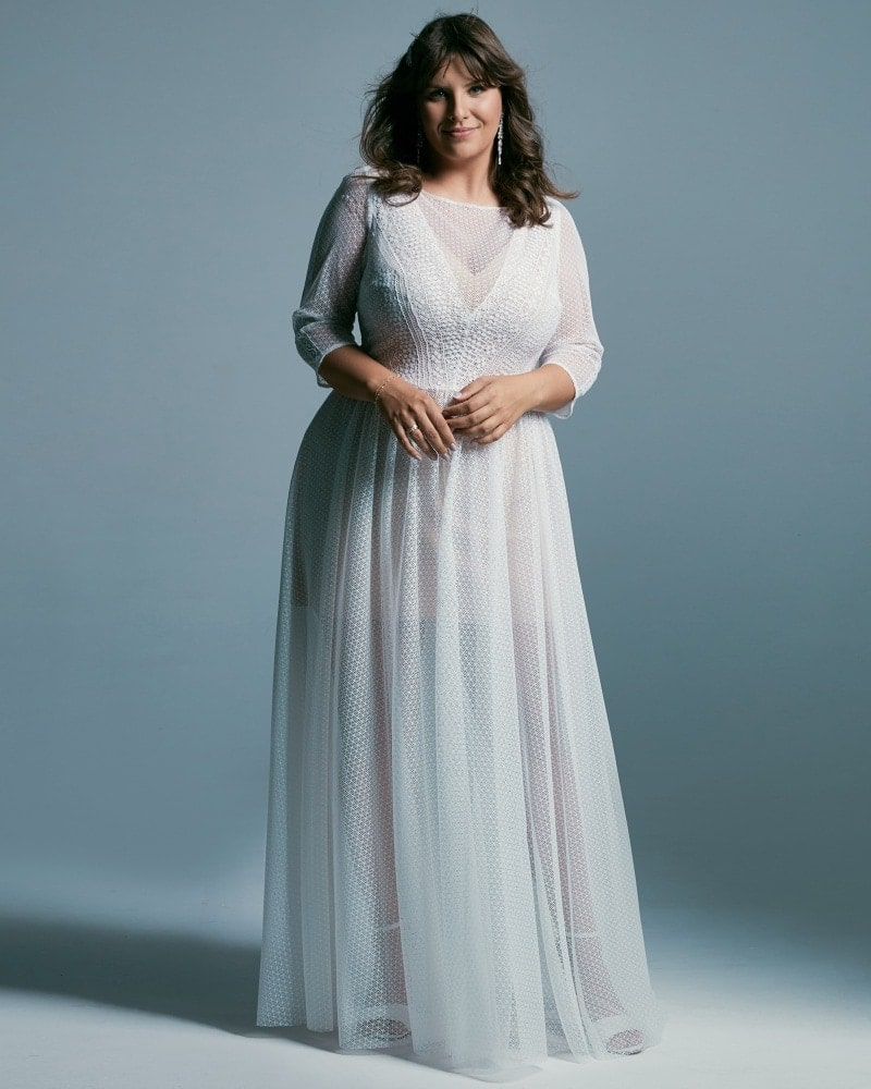 suknia ślubna plus size z rękawami 34 Santorini 7 2 Plus size wedding dresses