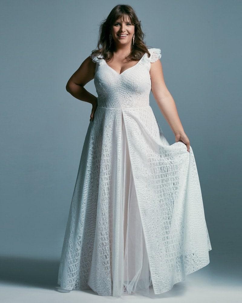 wyszczuplająca suknia ślubna plus size Santorini 4 4 Plus size wedding dresses