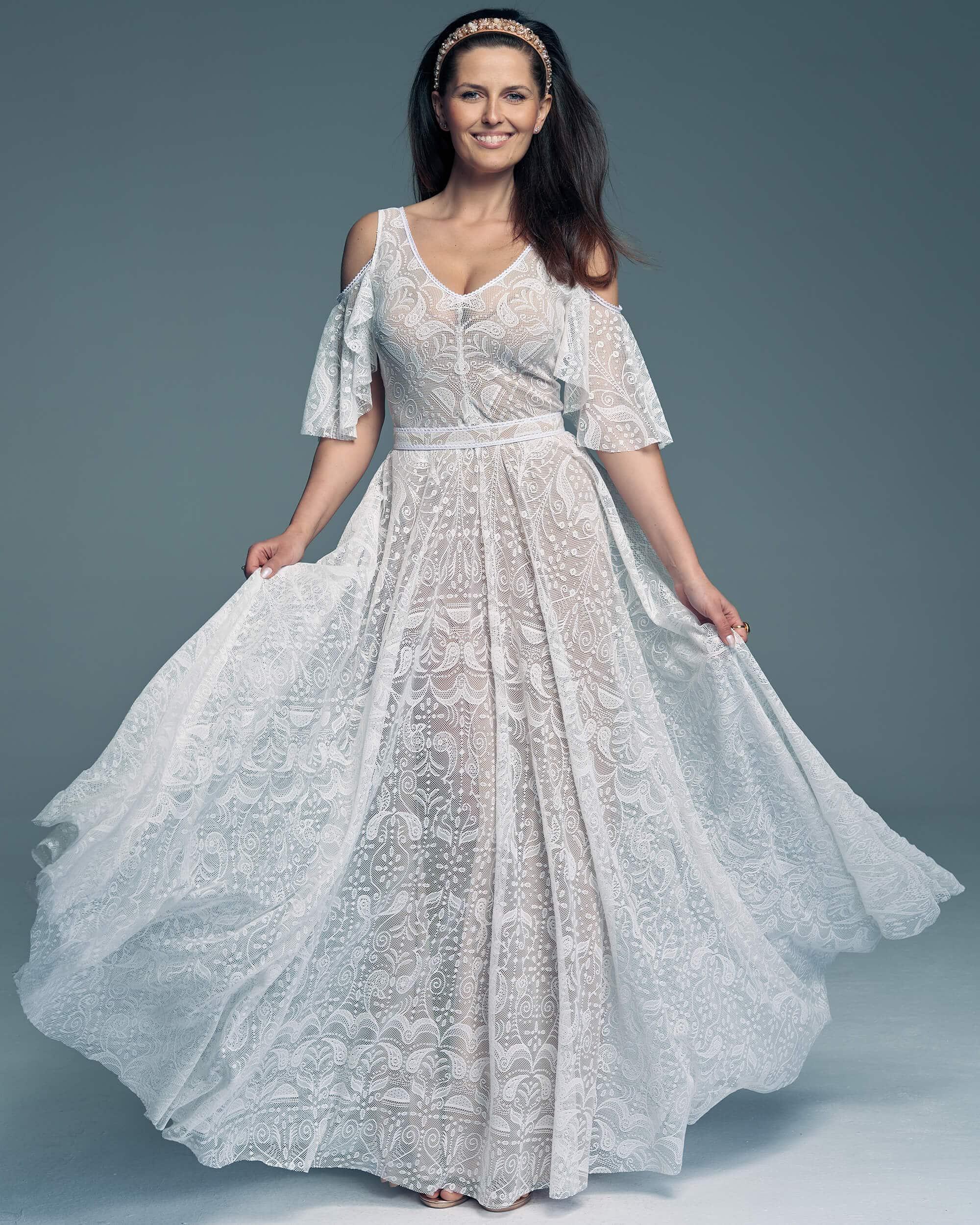 Suknia ślubna rękaw hiszpański Porto 57 1 Porto wedding dresses collection